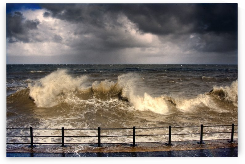 Stormy Seascape, Sunderland, Tyne And Wear, England, United Kingdom by PacificStock