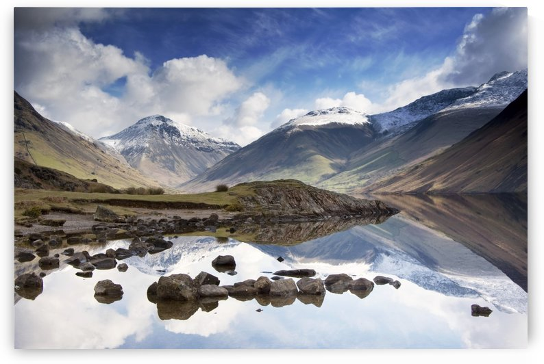 Mountains And Lake, Lake District, Cumbria, England by PacificStock