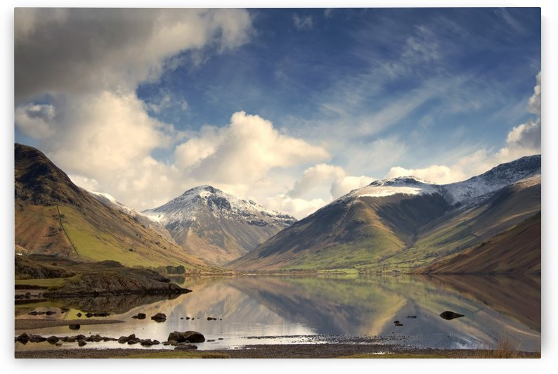 Mountains And Lake At Lake District, Cumbria, England, United Kingdom by PacificStock