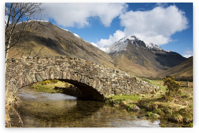 Stone Bridge In Mountain Landscape, Lake District, Cumbria, England, United Kingdom by PacificStock