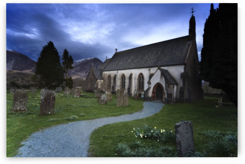 Church With Cemetery, Lake District, Cumbria, England by PacificStock
