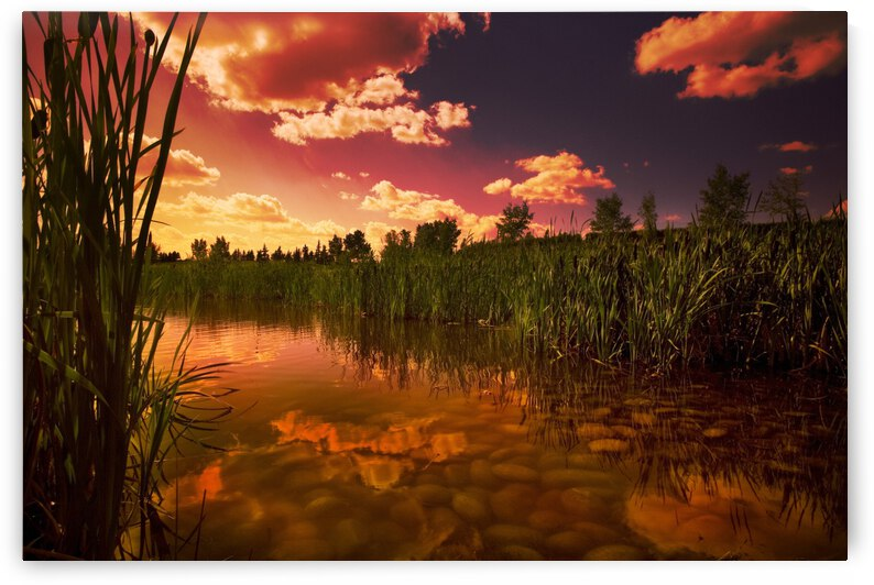 Sunset Over A Lake by PacificStock