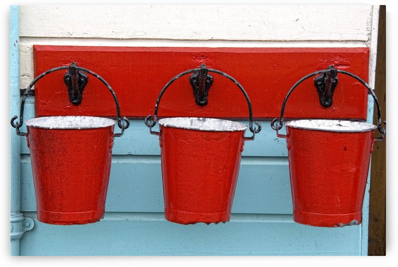 Three Red Buckets by PacificStock