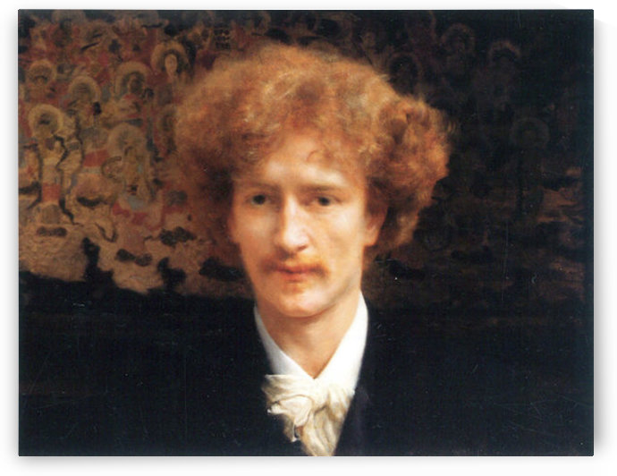 Portrait of Ignaz Jan Paderewski by Alma-Tadema by Alma-Tadema