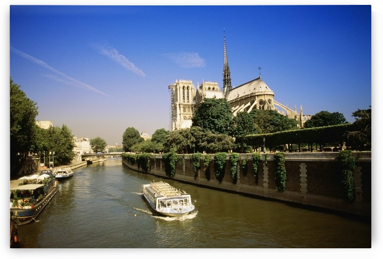 Notre Dame Cathedral And The Seine River, Paris, France, Europe by PacificStock