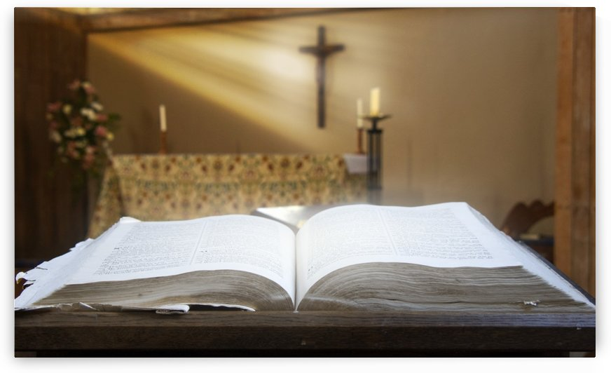 Holy Bible In A Church by PacificStock
