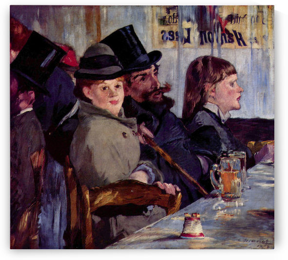 Cabaret in Reichshoffen by Manet by Manet
