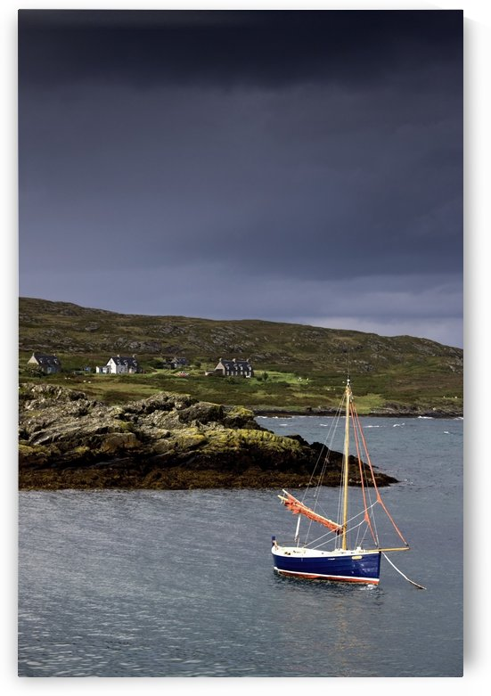 Sailboat On Water, Colonsay, Scotland by PacificStock