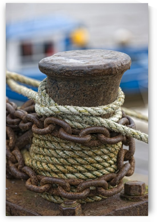 Rope And Chain On Post by PacificStock