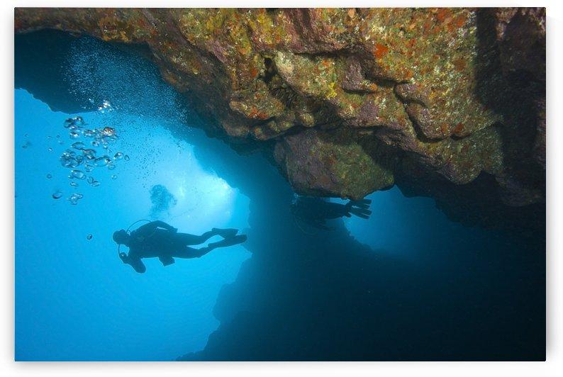 Molokini, Maui, Hawaii, Usa; Scuba Diver At A Volcanic Crater by PacificStock