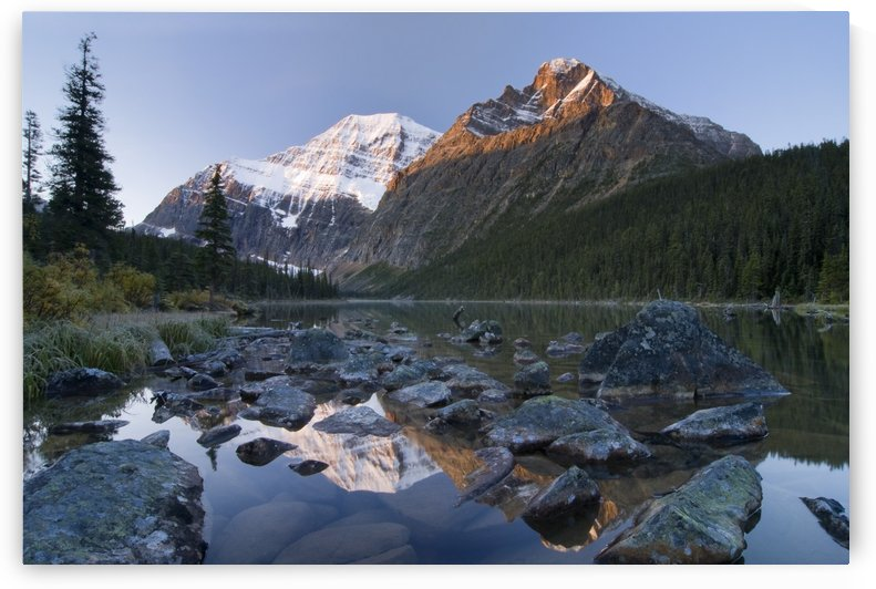 Mount Edith Cavell, Cavell Lake, Jasper National Park, Alberta, Canada by PacificStock
