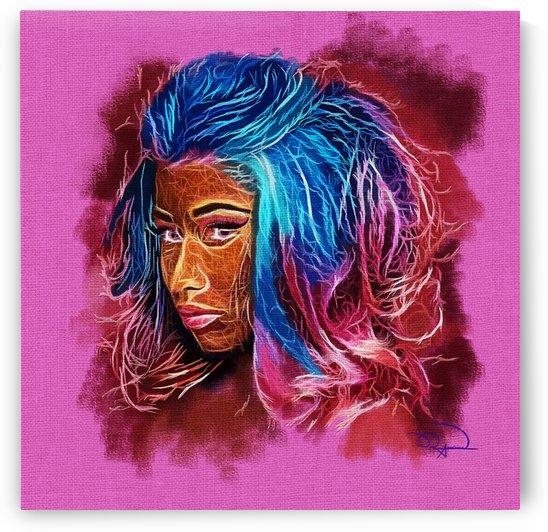 Nicki Minaj Abstracto by Tazmatic