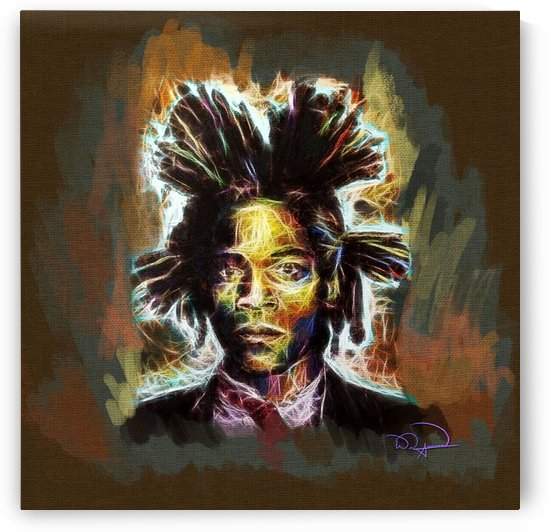 Jean Michel Basquiat Abstracto  by Tazmatic