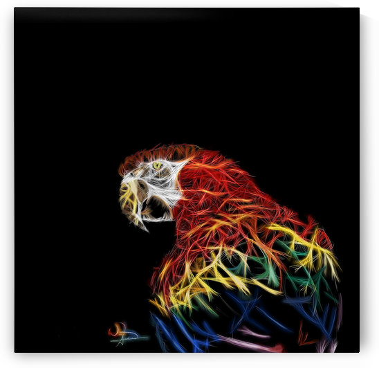 Parrot Abstracto by Tazmatic