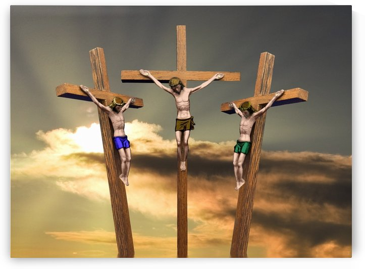 Jesus And The Two Thieves On The Cross by PacificStock