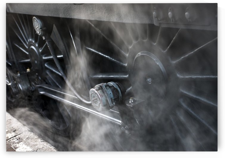 Close-Up Of Steam Engine Train Wheels by PacificStock