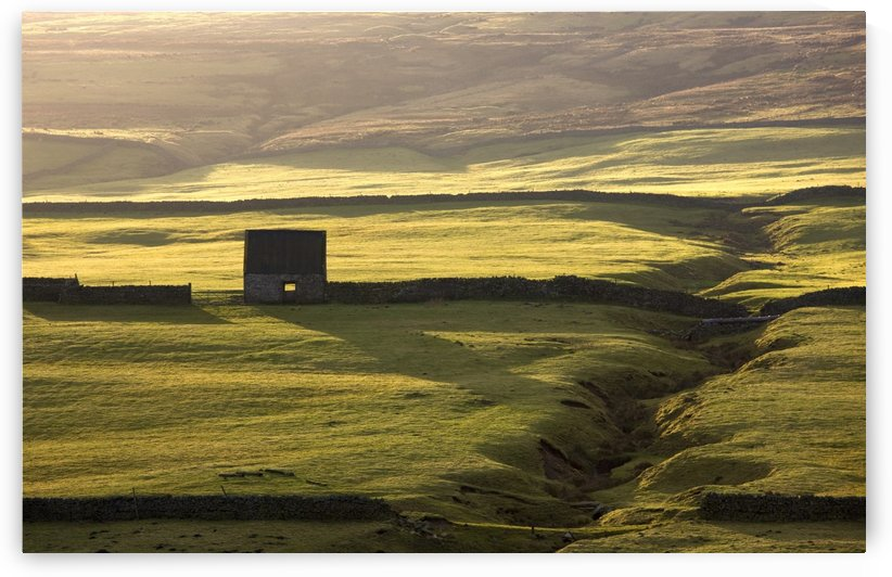 Stone Building And Walls, Weardale, England by PacificStock