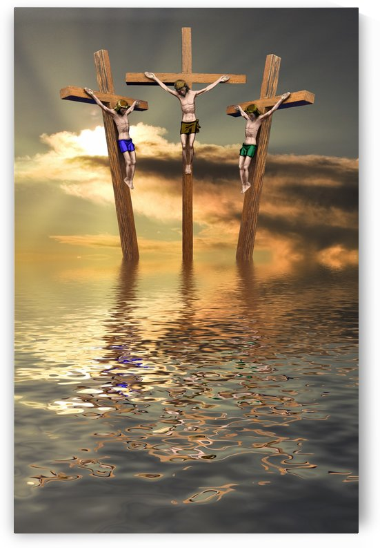 Jesus And Two Thieves On The Cross by PacificStock