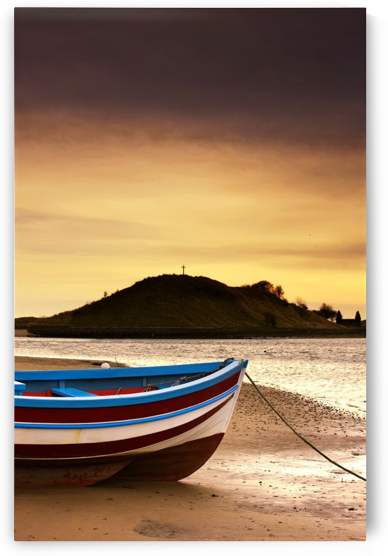 Alnmouth, Northumberland, England; Boat On Sunset Beach by PacificStock