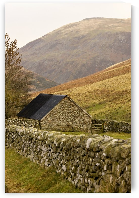 Northumberland, England; Stone House With Stone Fence by PacificStock