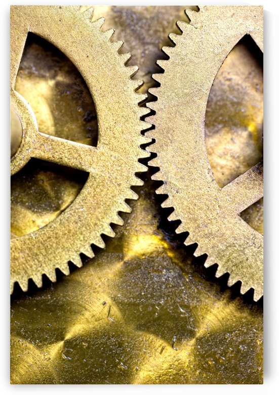 Gears From Inside A Wind-Up Clock by PacificStock