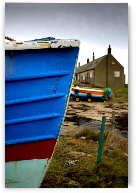 Weathered Boat Hull, Boulmer, Northumberland, England by PacificStock