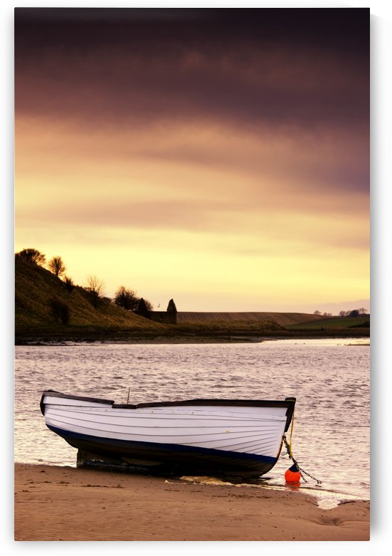 Boat On Seashore, Alnmouth, Northumberland, England by PacificStock