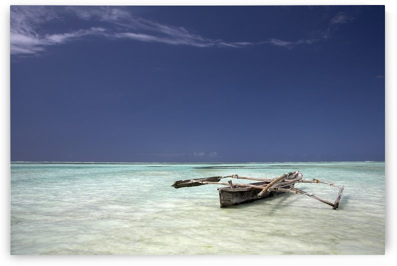Zanzibar, Tanzania; Dhow In Shallow Water by PacificStock