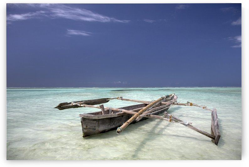 Zanzibar, Africa; Dhow In The Water by PacificStock