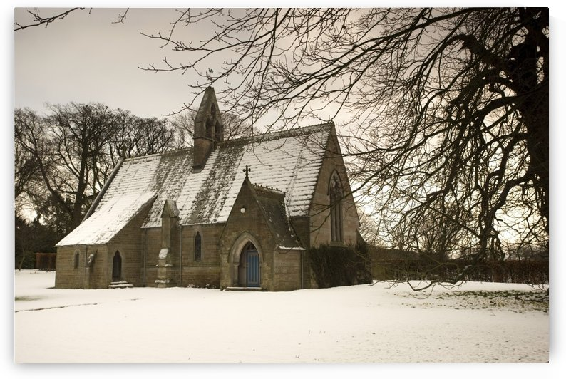 Ford, Northumberland, England; Country Church In The Snow by PacificStock