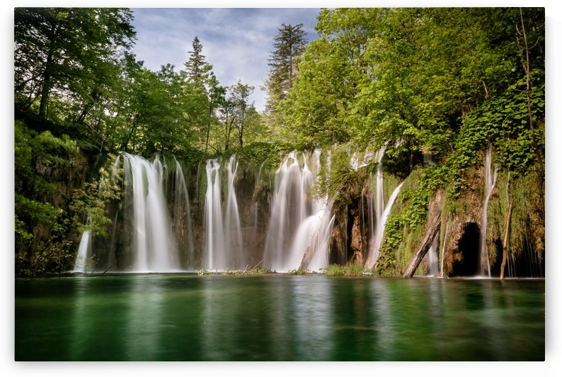 Idyllic Waterfall at Plitvice Lakes by Andreas Wonisch