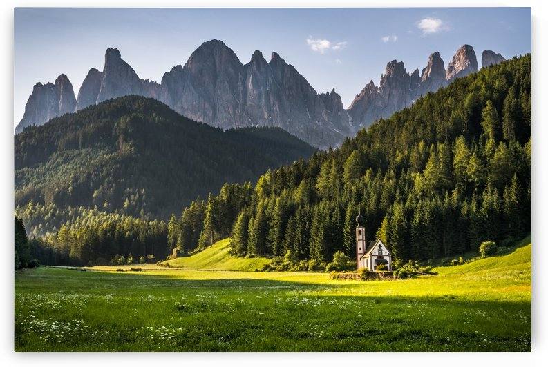 Church before the Dolomites by Andreas Wonisch