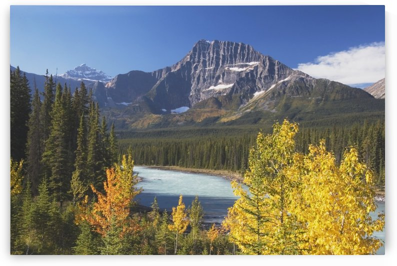 Athabasca River In Autumn, Jasper National Park, Alberta, Canada by PacificStock