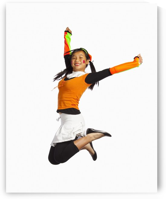 Girl Jumping by PacificStock