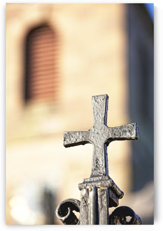 Northumberland, England; A Metal Cross by PacificStock
