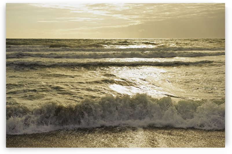 Waves Of The Ocean At Sunset; Tarifa, Cadiz, Andalusia, Spain by PacificStock