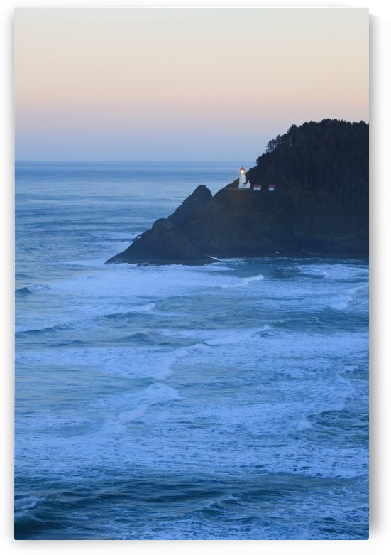 Oregon, United States Of America; Heceta Head Lighthouse At Morning Light Along The Coast Of The Pacific Ocean by PacificStock