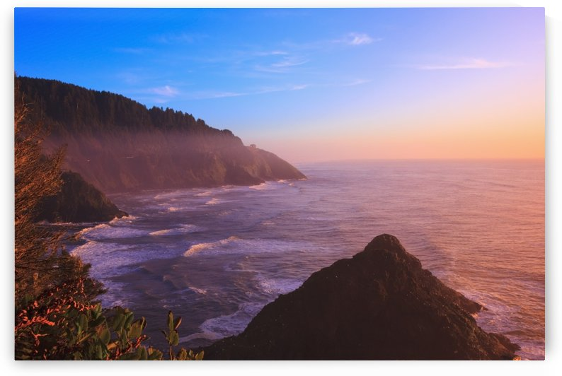 Oregon, United States Of America; Sunset At Heceta Head by PacificStock