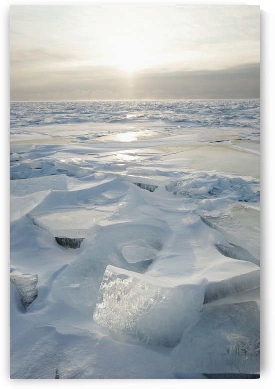 Minnesota, United States Of America; Ice Chards On The North Shore Of Lake Superior by PacificStock