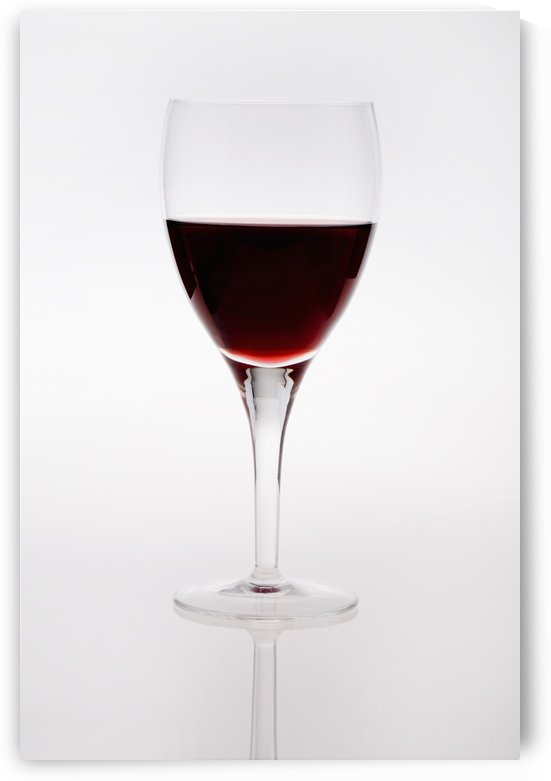 A Wine Glass With Red Wine by PacificStock