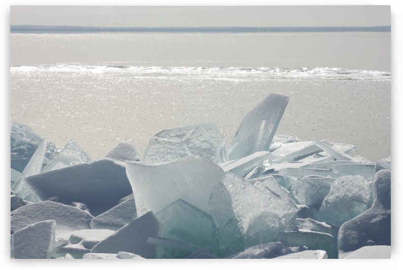 Ice Chunks On The Shores Of Lake Superior; Ontario, Canada by PacificStock