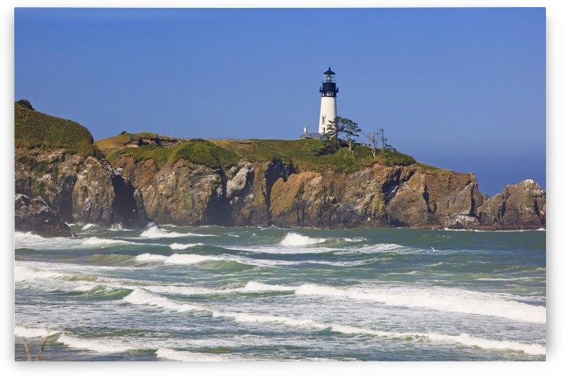 Yaquina Head Lighthouse On The Oregon Coast; Oregon, Usa by PacificStock