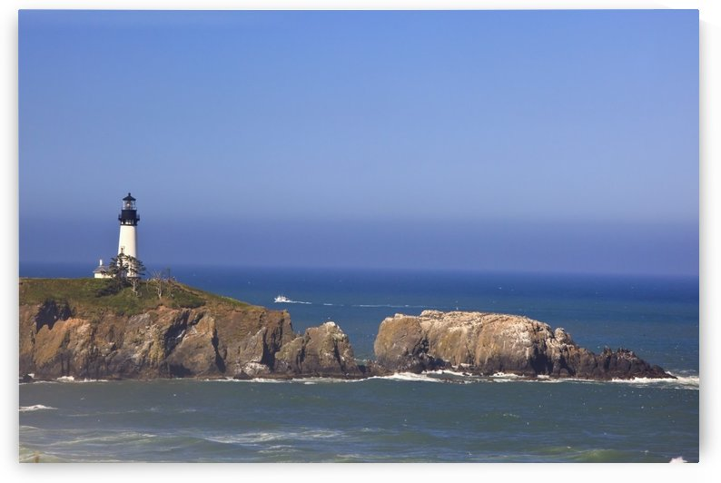 Yaquina Head Lighthouse On The Coast; Oregon, Usa by PacificStock