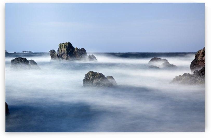 Mist Surrounding Big Rocks In The Water; Northumberland, England by PacificStock