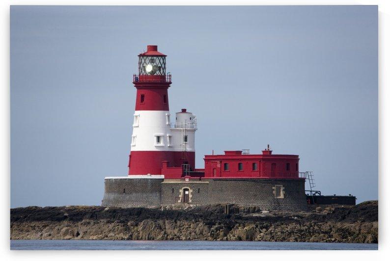 Longstone Lighthouse; Staple Island, Northumberland, England by PacificStock