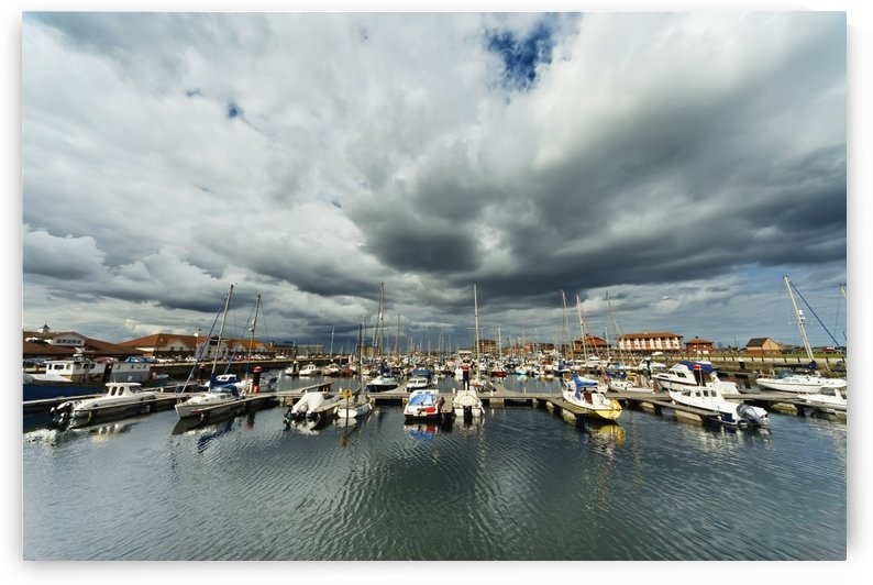 Boats In A Harbor; Hartlepool, Durnham, England by PacificStock