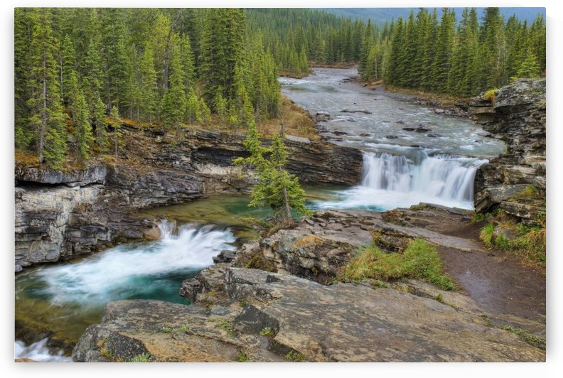 Waterfall In The Canadian Rocky Mountains; Kananaskis, Alberta, Canada by PacificStock