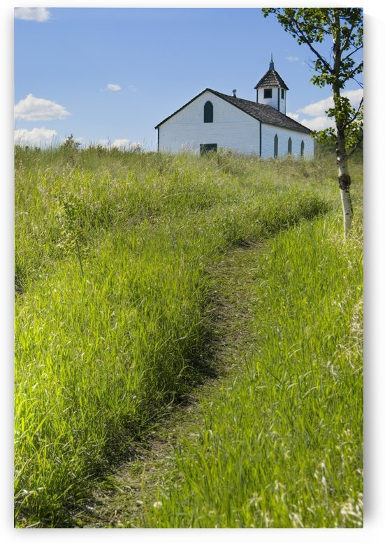 Little Church On The Canadian Prairies; Morley, Alberta, Canada by PacificStock