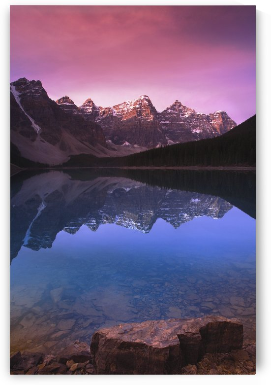 Moraine Lake's Valley Of The Ten Peaks; Lake Louise, Alberta, Canada by PacificStock