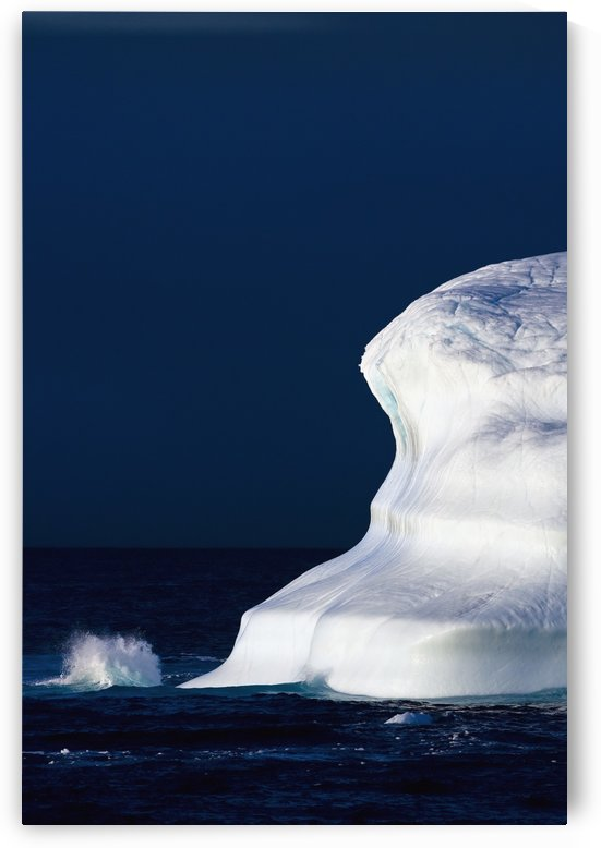 Ocean Water Splashing Against An Iceberg In The High Arctic Waters; Nunavut, Canada by PacificStock